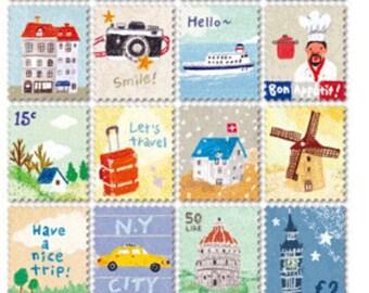 Sticker set stamp 80 pieces