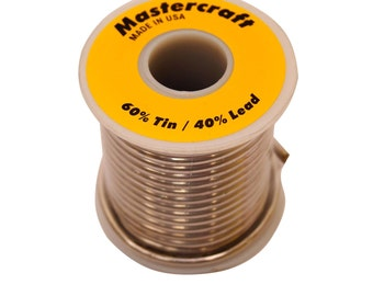 Mastercraft 60/40 Solder-Stained Glass Supplies-Solder-Soldering Tools- 1 lb spool-Tin and Lead