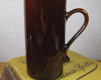 Tall Brown Coffee Mug