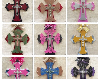 Decorative Crosses For Wall wooden decorative crosses | etsy