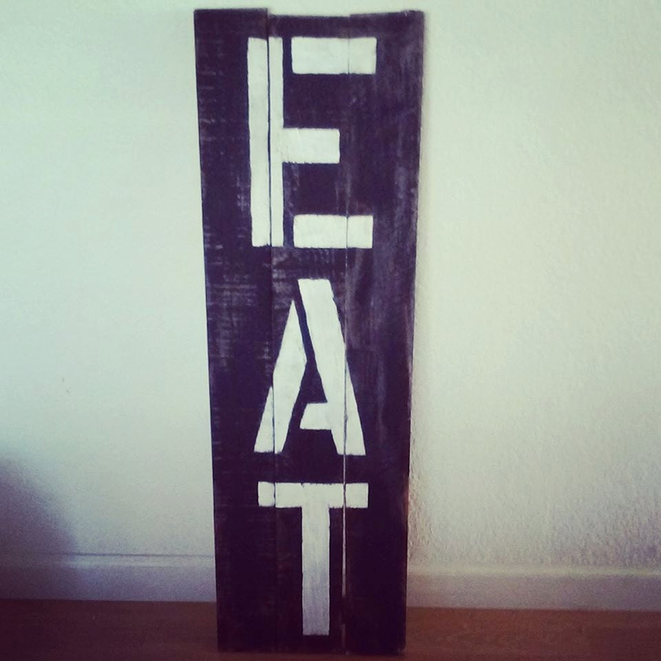 Kitchen Wall Decor Eat : Eat sign kitchen decor rustic wall words