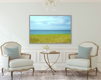 Windswept ~ Charlestown, Rhode Island, Abstract, Blue, Green, Artwork, Photograph, Coastal Decor, Beach, Photography, Nautical, Ocean, Art