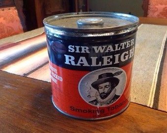 Vintage Tobacco Tin Large Sir Walter Raleigh