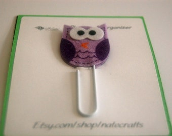 Owl Planner Clip, Owl Clip