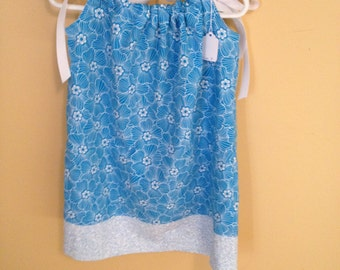 Cool Blue Pillowcase Dress        SALE!!!!! REDUCED PRICE!