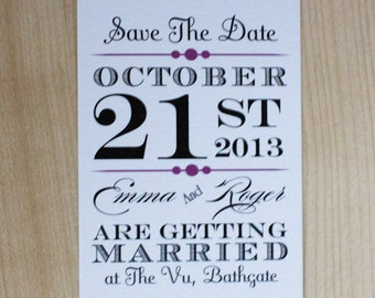 Vintage Poster Style Save The Date or Invitation