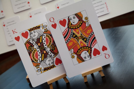 Playing Card Table Numbers Names