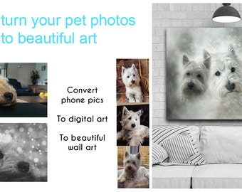 Custom Digital PET Portrait - From Your Digital Photos