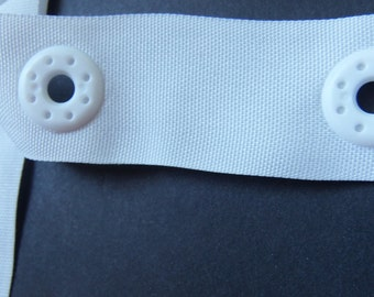 "Plastic Snaps tape - BIG white snaps tape- 12""."