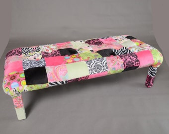Pink Patchwork Bench