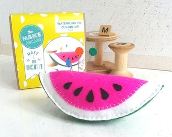 DIY craft kit, craft kit, sewing kit, beginners kit, watermelon, craft activities, sewing patterns, craft supplies, felt craft