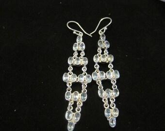 Blue Topaz Sterling Silver Earrings (72)