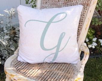 Large Letter Pillow - Monogram - Handpainted