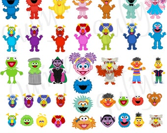 Monsters clipart / Monsters  vector / Monsters Heads / Monster Clip art  / Monsters  png / Monsters eps / monster printable