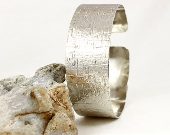 Silver Arm Cuff, Hammered German Silver or Brass, Textured, Silver Armlet, Upper arm band, Gold arm band,Silver arm band,Arm Cuff Silver