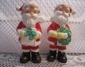Santa Figures Salt & Pepper Shakers, Japan