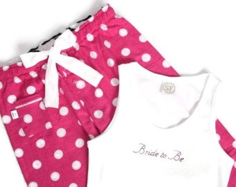 Personalised Pyjamas - Mrs, Bride To Be ... Any Wording