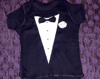 Tuxedo Infant Onesie