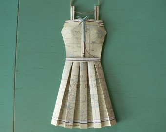 Vintage Atlas Paper Dress