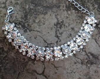 Swarovski crystal encrusted bracelet