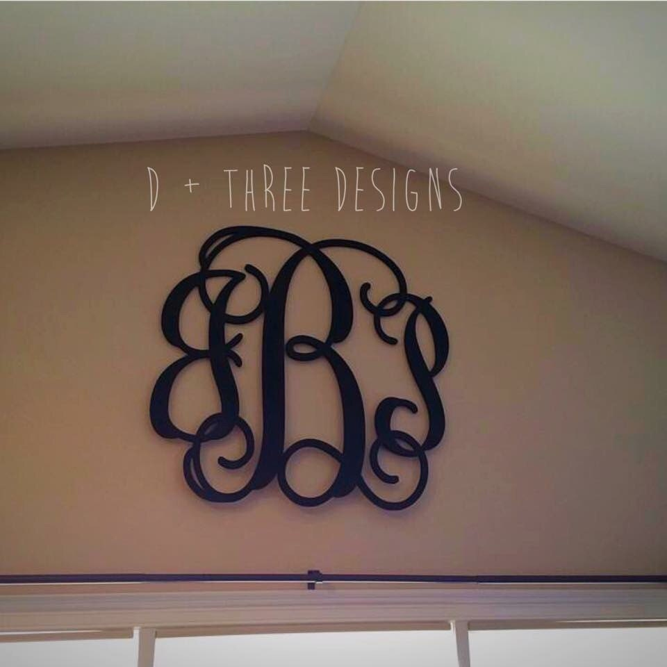 36 inch wooden monogram painted wooden letters monogram for Monogram homes