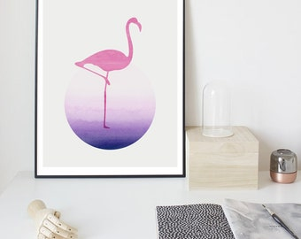 Flamingo Printable Art, Instant Download, nursery print, Style,Modern Wall Art, Inspirational Quote