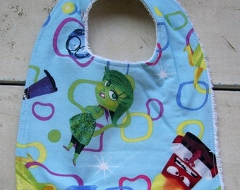 NEW *Disneys Inside Out Emotions Movie* Infant Baby BIB Terry Cloth Backing Super Soft Absorbent *Great Gift Idea