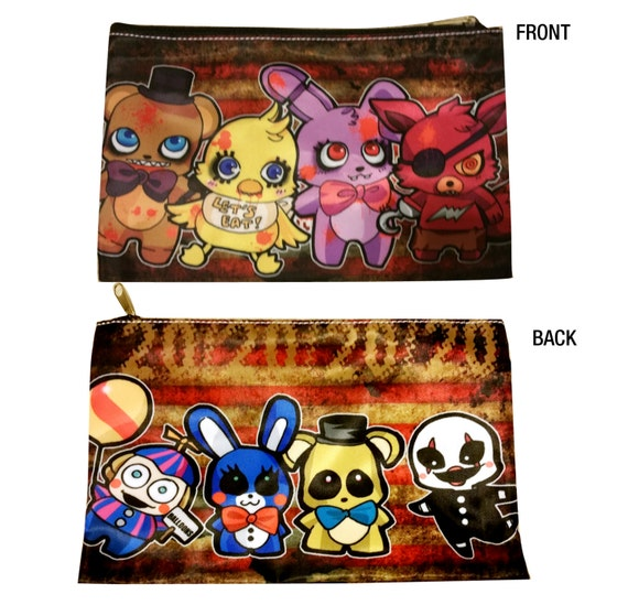 Five nights at freddy s fnaf pencil 3ds cosmetic pouch money bag