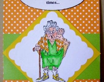 Humorous Golden Oldies Card