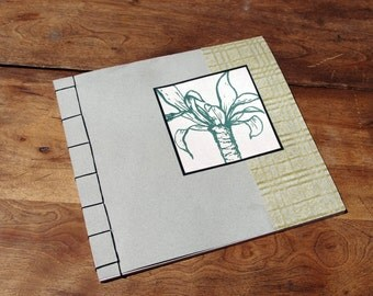 Japanese Stab Bound Light Green Notebook