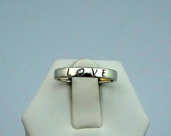 All you need is love...LOVE Sterling Silver Band  #LOVEB-SR1