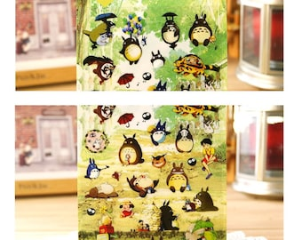 Cute My Neighbor Totoro Stickers Hayao Miyazaki Movie diy scrapbooking T59