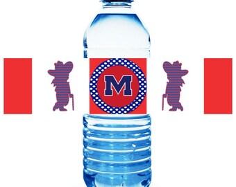 Ole Miss Water Bottle Labels