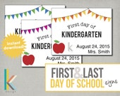 Printable First & Last Day of School Signs, Instant Download, Digital File