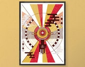 Whisper - A2 limited edition silk screen printed art print - inspired by Mexican and Mayan art