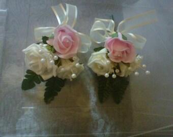 2 x wedding corsages