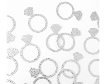 Engagement ring confetti, Ring decorations, engagement party decor, bride to be, bridal shower confetti, ring confetti, bridal shower decor