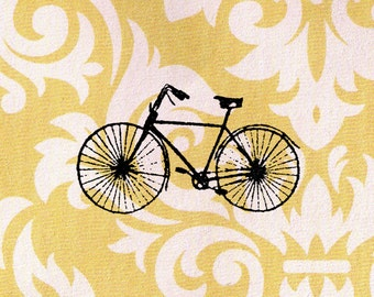 Bicycle Stamp: Wood Mounted Rubber Stamp