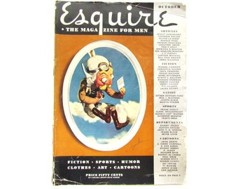 Vintage October 1935 Esquire Magazine for Men / Complete