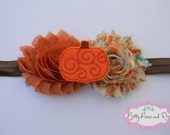 Fall Headband, Pumpkin Headband, Autumn Headband, Fall Baby Headband, Pumkpin Headband, Fall Photo Prop