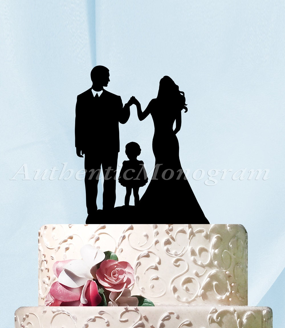 family silhouette wedding cake toppers wedding cake topper silhouette family cake topper classic 14183