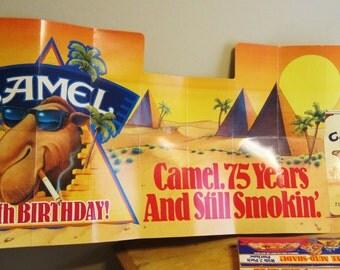Vintage JJoe Camel Cigarettes 75th Anniversary Auto Shade