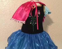 Anna Inspired Tutu Birthday Party Halloween Toddler Girl Costume Tutu Girl Dress S M L