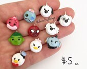 Tsum Tsum Phone or Charm Bracelet Charm Polymer Clay Kawaii (Choose One)