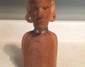 Wood carved African Warrior item 59