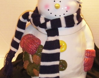 Snowman with Scarf and Hat/A Berry Merry Christmas