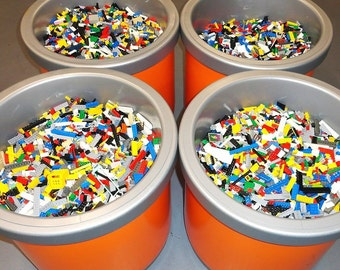 Lego 1-99 Pounds lbs parts & pieces huge BULK LOT bricks blocks w/ 3 MINIFIG