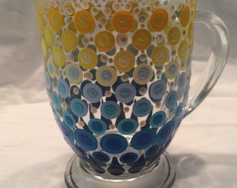 Hand Painted Glass Mug