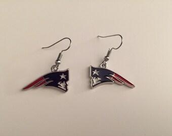 Handmade New England Patriots Earrings