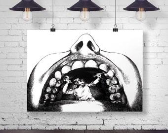 Dentist Art Print - Wall Art - Office Decor - Dentist Office Decor - Dental Art